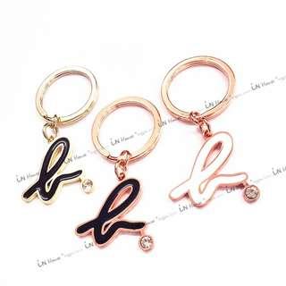 Agb 字母造型 簡約 汽車 機車 鑰匙 鑰匙圈 水鑽 鑰匙扣 包包吊墜 包包掛飾 (特價)