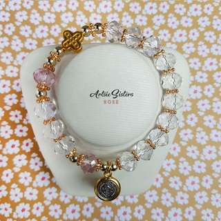 Crystal Plastic Rosary Bracelets