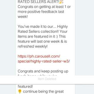 YAY! HIGHLY RATED SELLER! 🤗