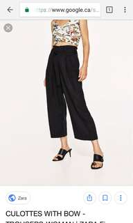 ZARA • Culottes with belt