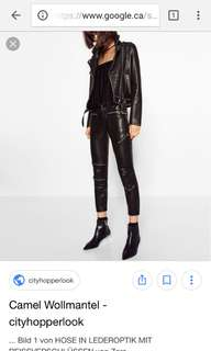 ZARA • Biker leather pants