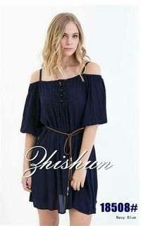 🐋Premium  Quality  Strap  shoulder Dress