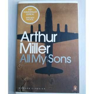 A level literature book / classics: All My Sons  by Arthur Miller. Free normal local postage