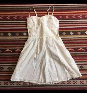 🚚 H&M 英式 復古 洋裝 馬甲 田園 長版上衣 古著 細肩帶 細肩帶洋裝 無袖洋裝