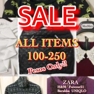 SALE. ZARA H&M BERSHKA F21 UNIQLO TOP SHORTS POLO JEANS CARDIGAN JACKET SHIRT