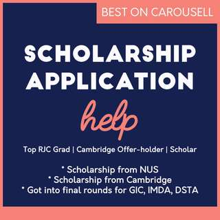 Uni Scholarship Application Help from Top RJC Student