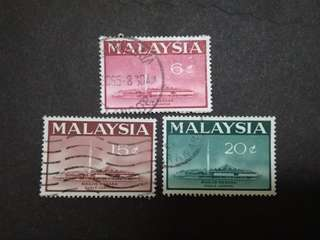 Malaysia 1965 National Mosque Kuala Lumpur Complete Set - 3v Used Stamps #1