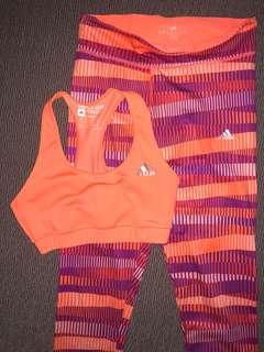 Adidas Activewear Sports Bra Tights