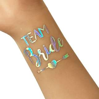 🚚 Team Bride Tribe Temporary Tattoo for Bridal Shower Party - Instock
