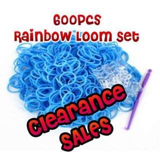 (Clearance Sales) Glow in the Dark Rainbow Loom Kit Craft Work Brand New - 600pcs