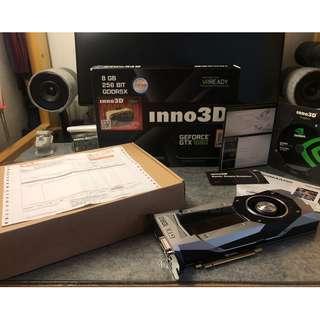 不議價99% new 有單有盒全套齊 Inno3D Nvidia Gtx 1080 founders edition公版