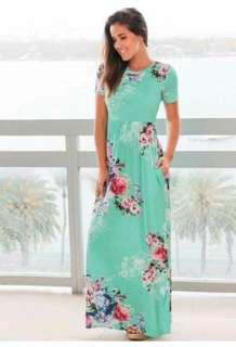 🐋Floral Maxi dress