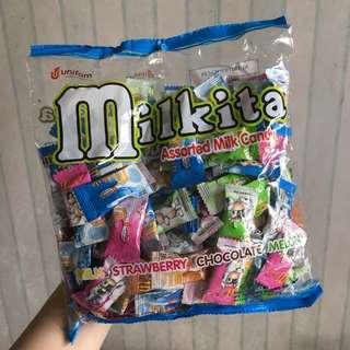 Milkita Assorted Milk Candy(milk.chocolate.melon.strawberry) 125pcs 牛奶糖