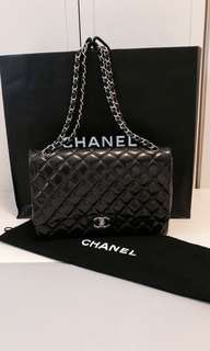 Chanel quilted leather double flap bag