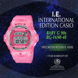 CASIO INTERNATIONAL EDITION BABY G 90s SERIES BG169R-4EJF PINK