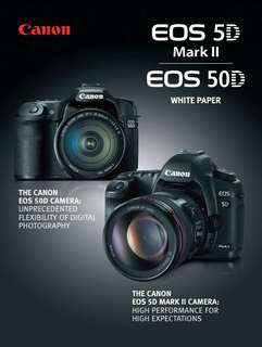 Canon EOS 50D and 5D mark II White Paper ebook