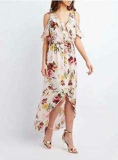 🐋Maxi Floral  Dress cold shoulder