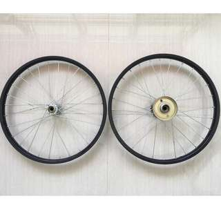 "20"" Folding Bicycle Wheels (w/o Axel)"