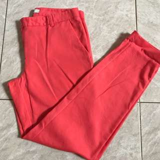 FOREVER 21 PINK SALMON TROUSERS PANTS