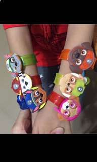 Instock Paw patrol handwrist w Lights brand new suitable for 3-12yrs old ..ideal for goodies bag gift .. bulk purchase pls pm ne