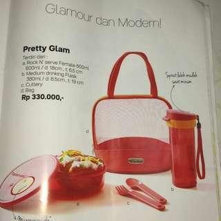 Pretty glam set by tupperware