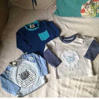 Baby Boy Tops Shirts from UK 3-6m