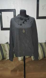 SALE Sweater with asymmetrical collar