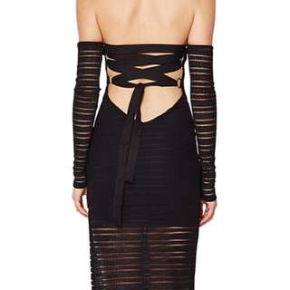 Bec and bridge deception lace up dress