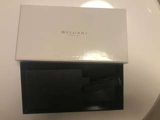 Bvlgari parfums perfume luggage tag brand new with box
