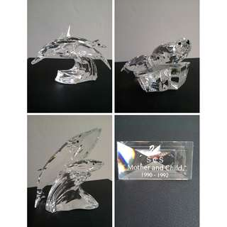 112 Swarovski Silver Crystal 'Mother & Child' Trilogy: 1990-1992 Annual Editions