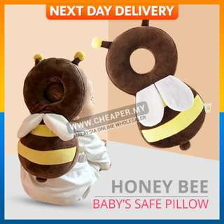 Honey Bee Baby Head Protection Pad Pillow Wing Drop Resistance Cushion