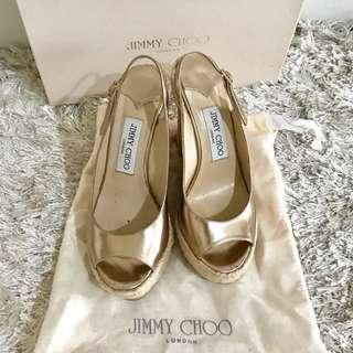 JIMMY CHOO ESPRADILE WEDGE BRONZE
