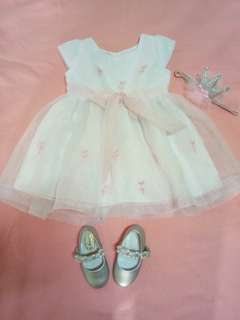 Christening Dress with shoes and headdress