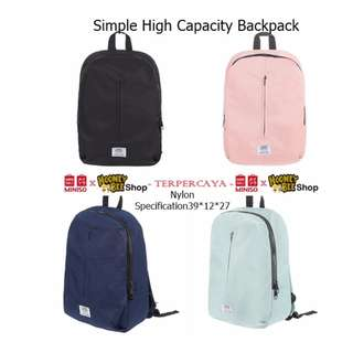 Japan Quality - Tas Ransel Miniso Import Simple High Capacity Backpack