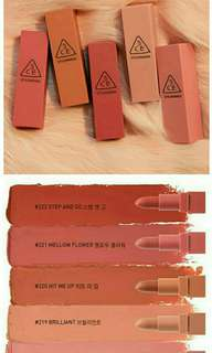 3CE Mood Recipe Matte Lip Color Mini Kit