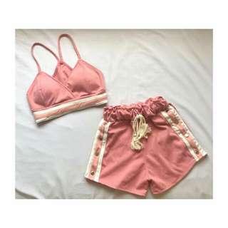 Bralette & snap shorts