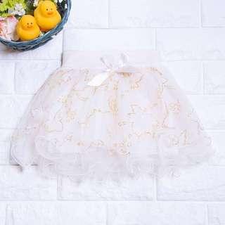 🚚 Instock - Glitter Cream Tutu Skirt