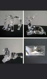 1 Swarovski Crystal 'Inspiration Africa' Trilogy: 1993-1995 Annual Editions