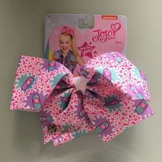 Jojo Siwa Bow Large White / Pink / Purple Soda Pop