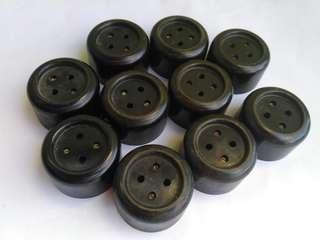 Stop Kontak lama bahan bikelite dan keramik NOS.