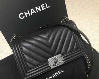 Boy Chanel 25cm 荔枝枝山形紋