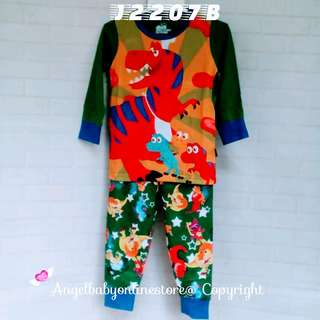 (Nett Price) Dino World Green Sleepwear