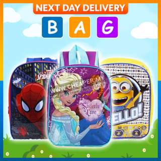 Minions/Frozen/Spiderman/Cars Casual School Bag Backpack Kindergarten
