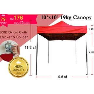 10x10 Canopy 800D Thickness Tent Kanopi Khemah Party Event Sun Shade Pasar Malam Wedding Event Sun Shade Pasar Malam Wedding Exhibition Car Park Shade Pameran Berkelah Picnic Khemah Kanopi Outdoor Tempat Letak Kereta Penjaja Berniaga Makanan Bazaar Sun