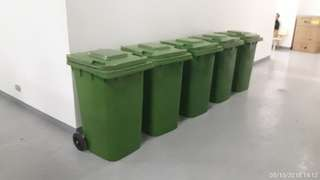 240 liter rolling trash bin made in korea