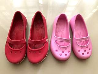 Girls Crocs Shoes Set
