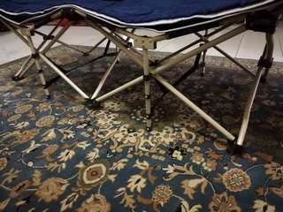 Foldable Camping Bed (Dark blue)