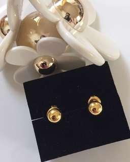 24K / 999.9 Gold Ball Earrings