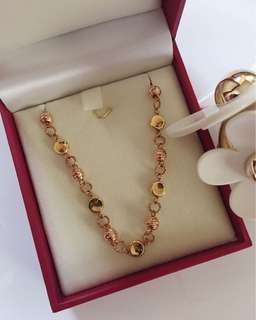 18K Yellow and Rose Gold Chain Bracelet