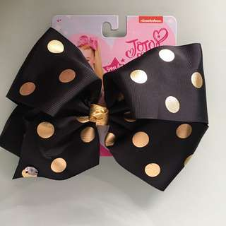 Jojo Siwa Black with Gold Polka Dot